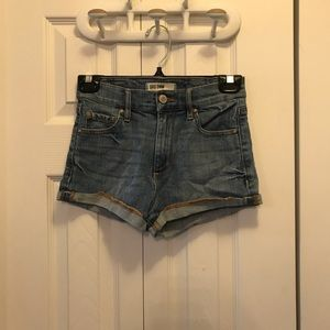 Garage Light Wash High Waisted Jean Short Shorts
